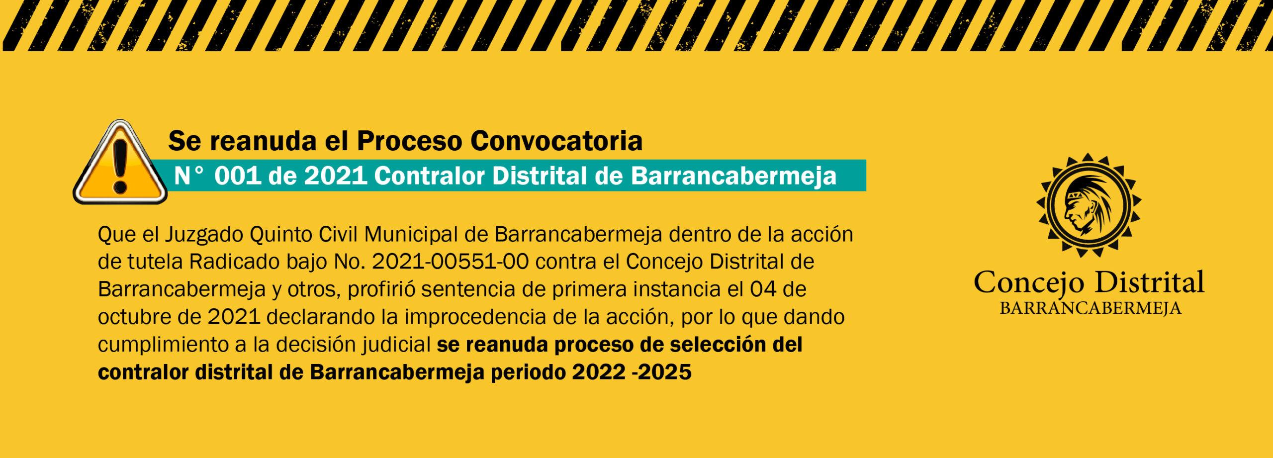 Convocatoria Contralor Barrancabermeja